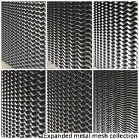 expanded metal mesh 3D model