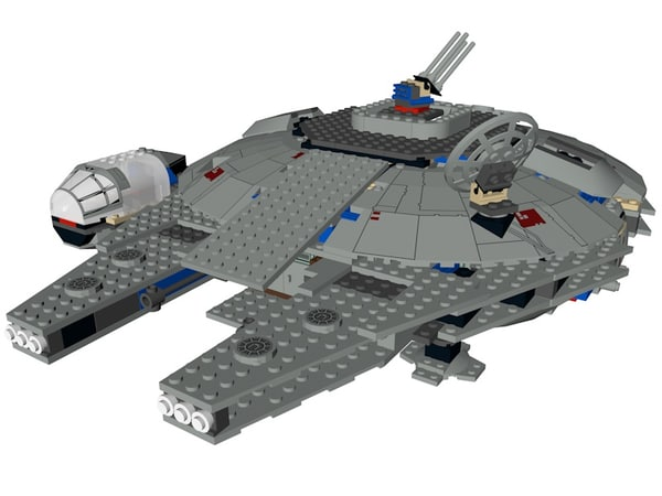 lego star wars millennium model