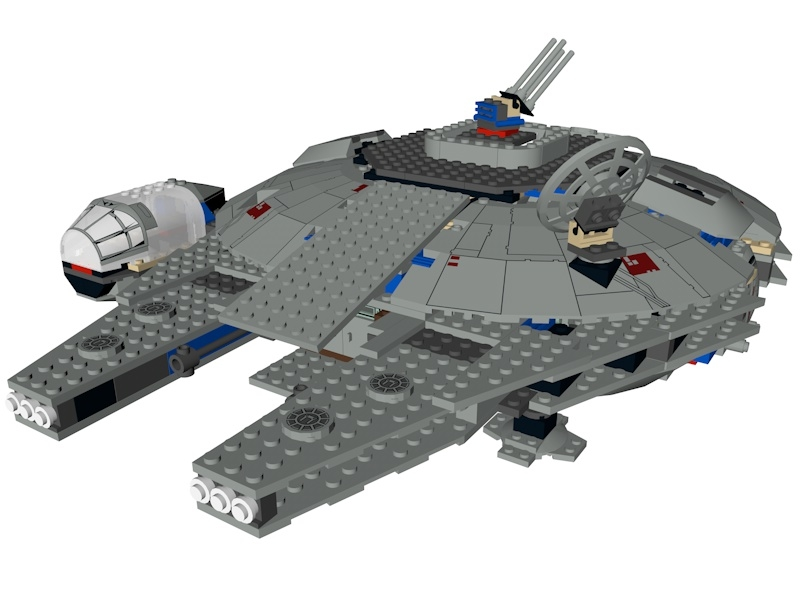 lego star wars millennium model