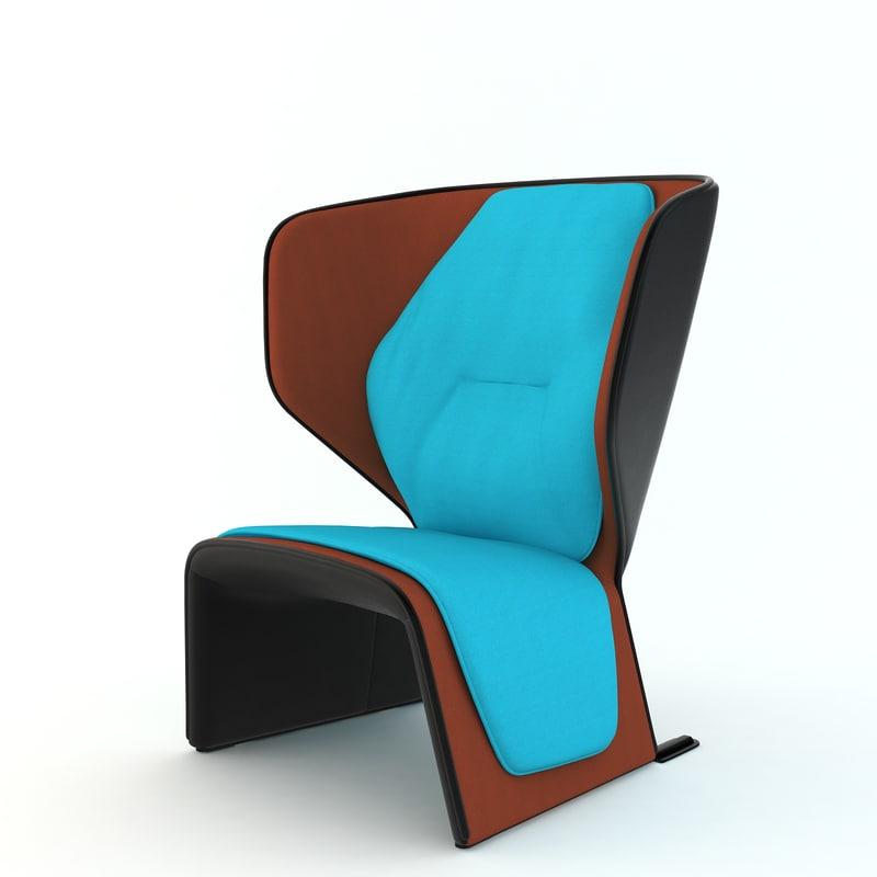 3D model chair arch