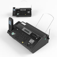 fax panasonic kx-fc968rut 3D model