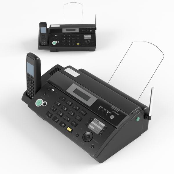 fax panasonic kx-fc968rut 3D model
