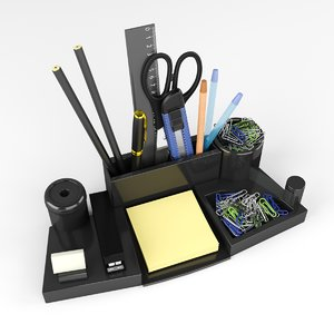 3D model stationery set