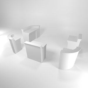 modular bar events 3D model