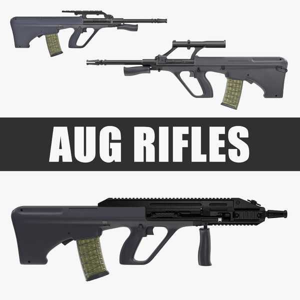 3D aug rifles 3