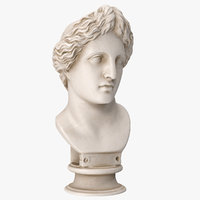 3D model apollo lykeios bust