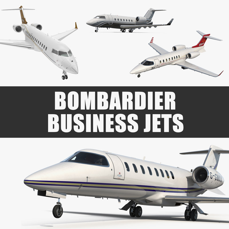 bombardier business jets 3D