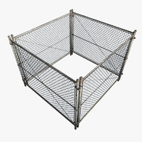 metal fence square model
