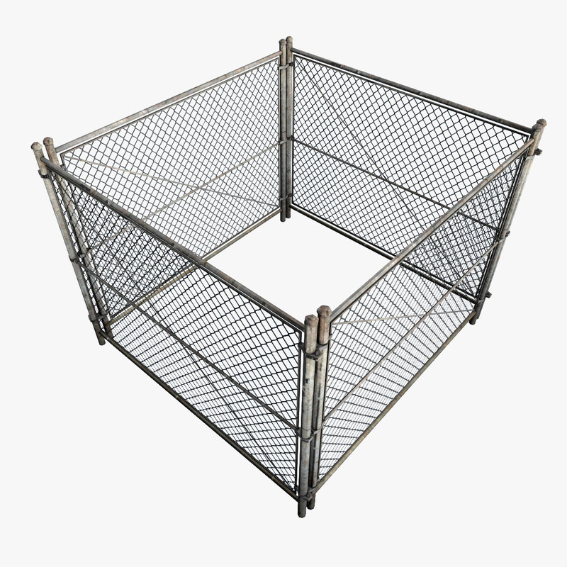 metal fence square model