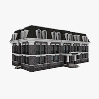 3D model city administrative building