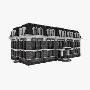 3D model city administrative building