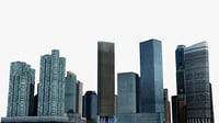 3D singapore 4 skyscrapers