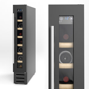 built-in wine cabinet 3D model