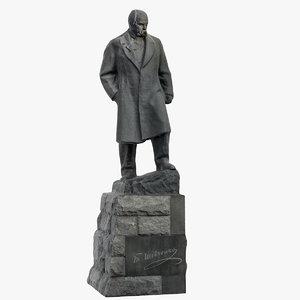 3D taras shevchenko monument