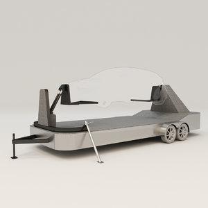car seat belt 3D