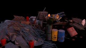 3D pile trash
