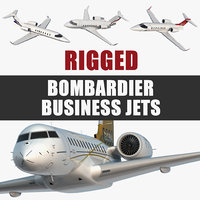 Bombardier Business Jets Rigged Collection