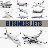 Business Jets 3D Models Collection 3