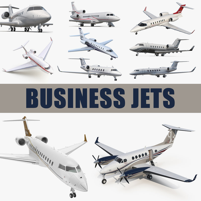3D business jets 3 model