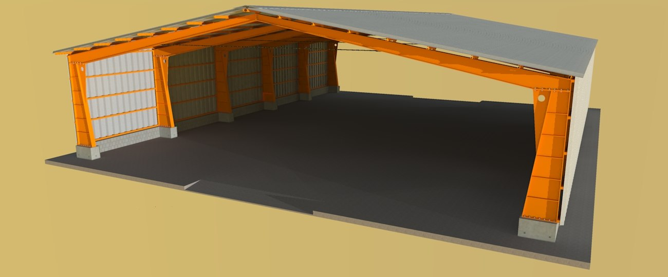 3D galpo shed