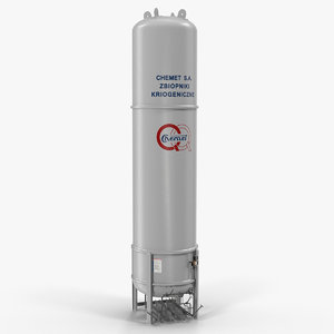lng gas cryogenic storage 3D model