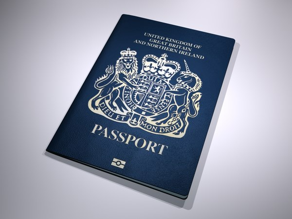 3D new british passport model