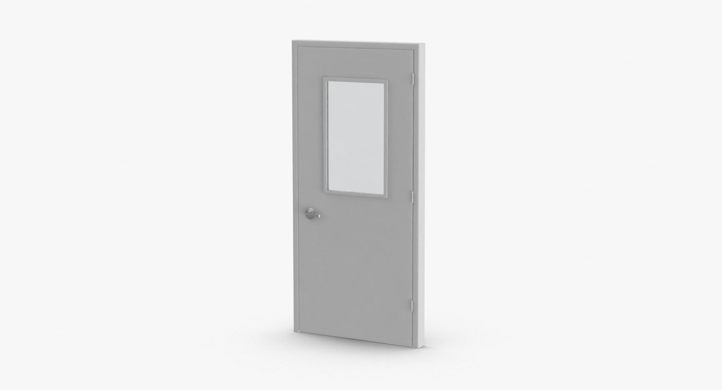 commercial doors 1 closed 3D model
