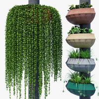3D flowerpot 750 pot