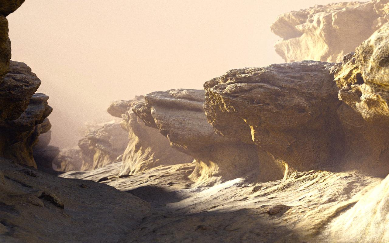 desert planet 3D model