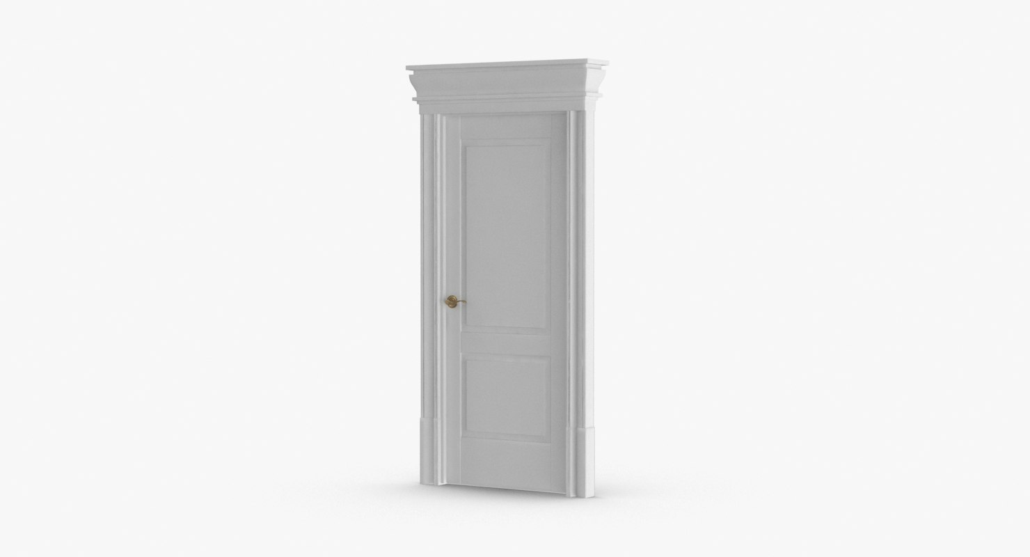 Classic Doors   Door 2 Closed 3D Model