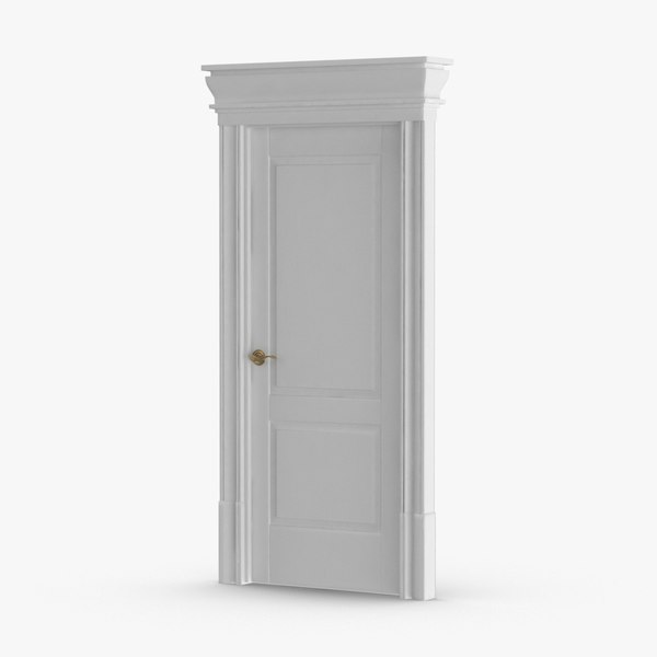 classic-doors---door-2-closed 3D model