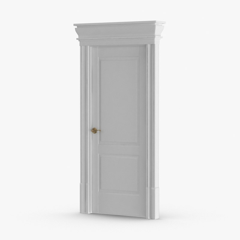 classic-doors---door-2-closed 3D model
