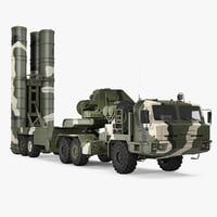 Russian S-400 Triumf Air Defense System Vehicle