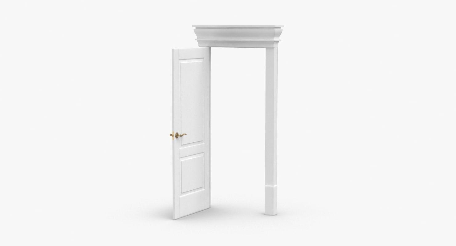classic-doors---door-2-open 3D model