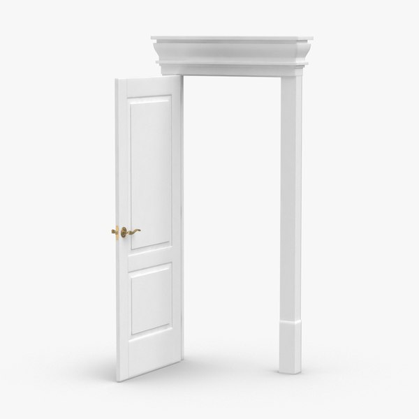 classic-doors---door-2-open 3D model