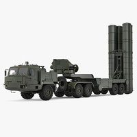 S-400 Triumf Launch Vehicle Battle Position