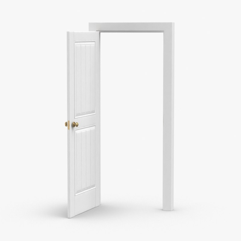 classic-doors---door-5-open 3D