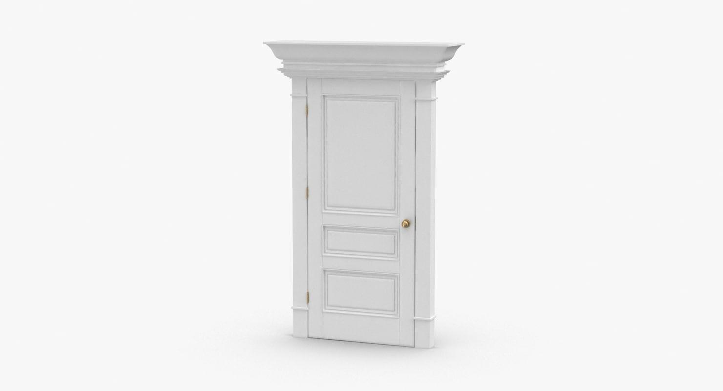 classic-doors---door-6-closed 3D model
