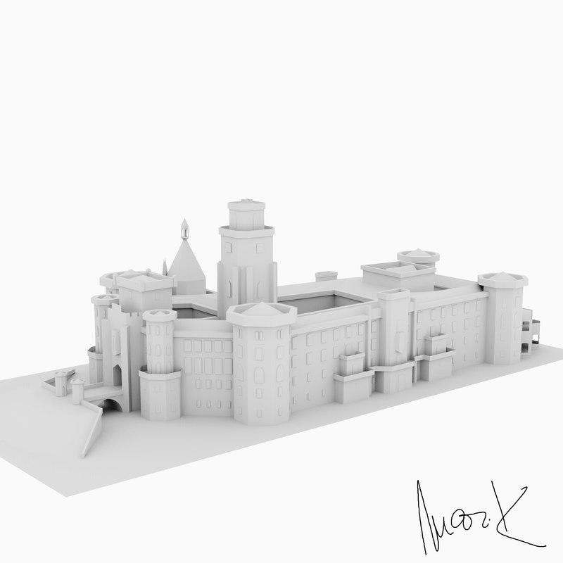 castle hlubok nad vltavou model