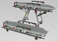 hospital stretcher 3D