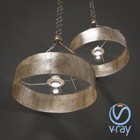 old metal lamp 3D model