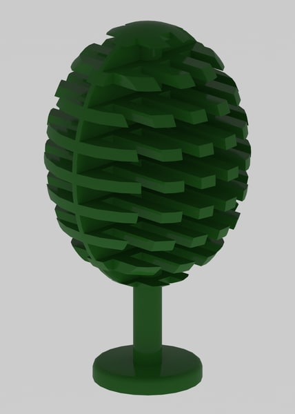 lego tree 3D