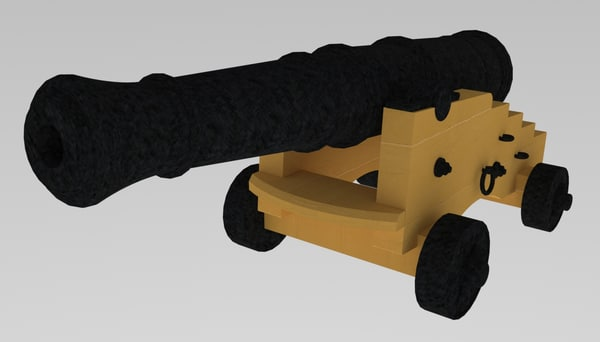 cannon 24 pounder model