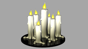 cartoon candles 3D model