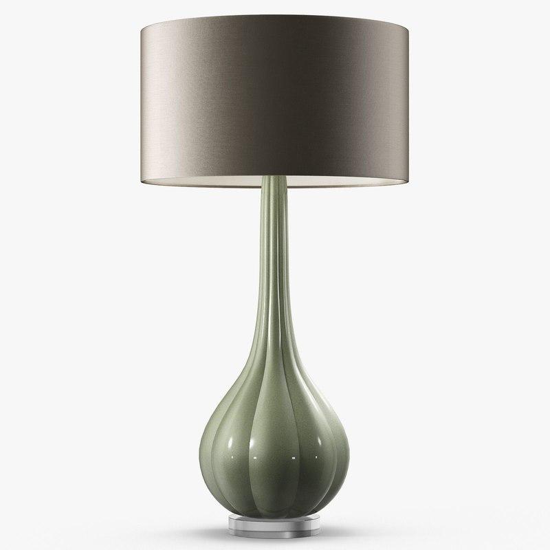 3D model elenor table lamp -