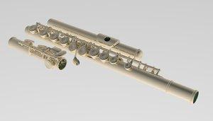 3D flute model