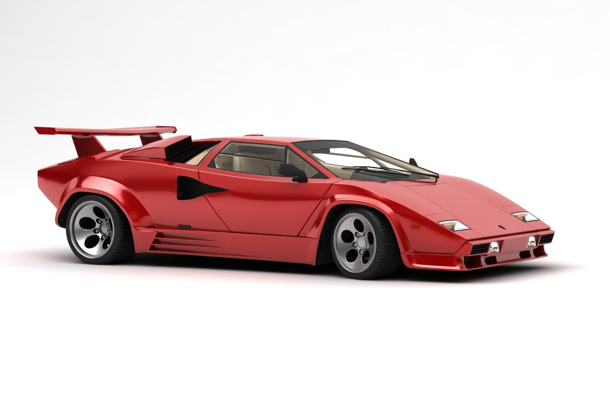 3d Lamborghini Countach Lp 5000 Turbosquid 1238223