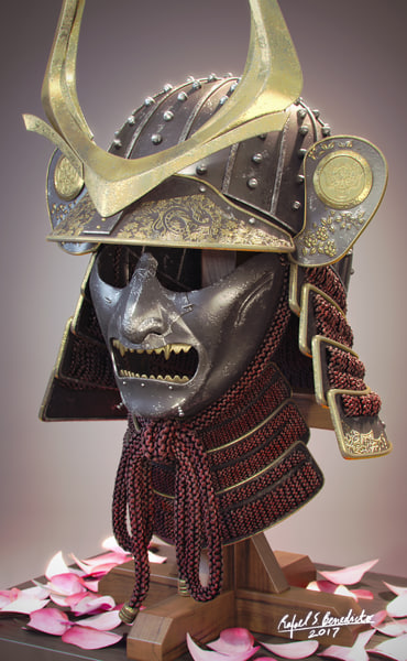 3D kabuto helmet model