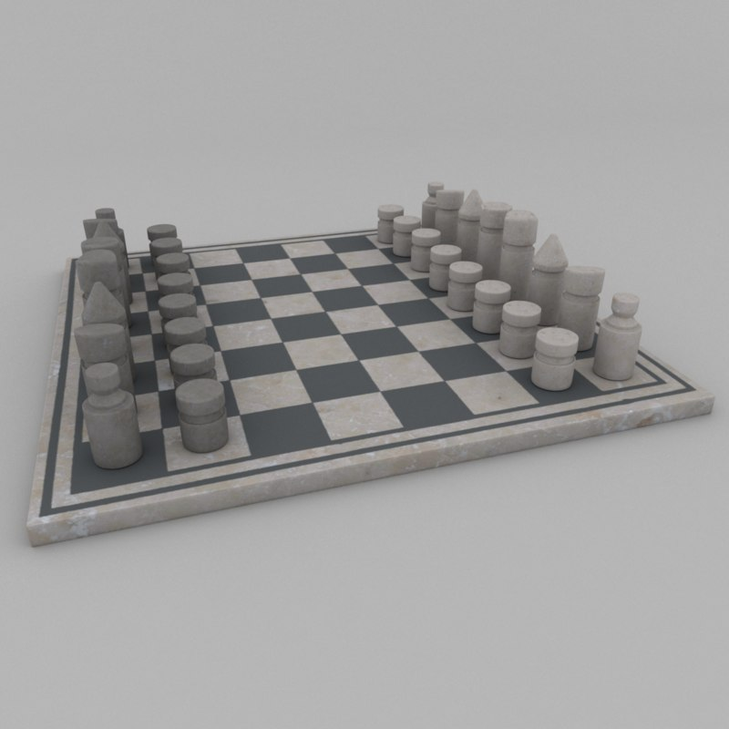3D marble chess