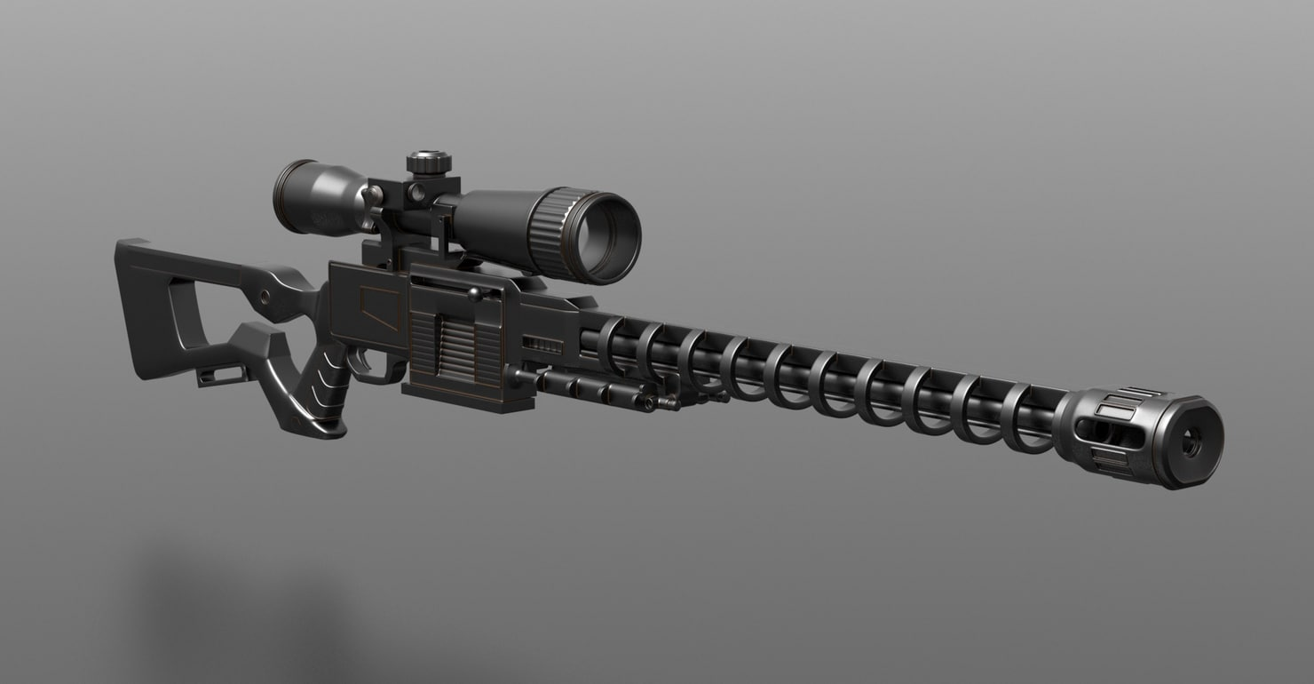 rifle future 3D model